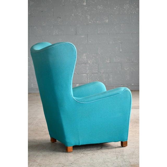 Wood Fritz Hansen Model 1672 High Back Lounge Chair Danish Mid-Century, 1940s For Sale - Image 7 of 11