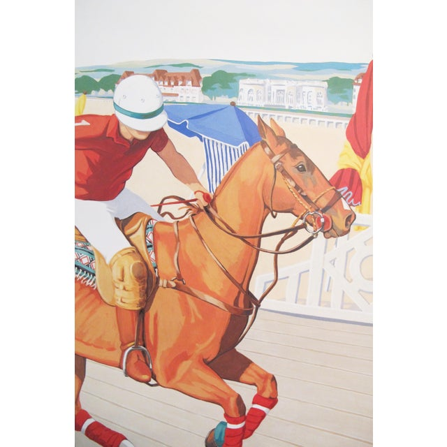French 1993 French Horse Poster, Polo Deauville For Sale - Image 3 of 5