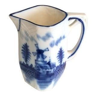 Vintage Delft Flow Ware Porcelain Creamer