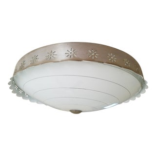 Mid-Century Flush Light Fixture