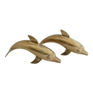 Brass Dolphin Figurines - a Pair