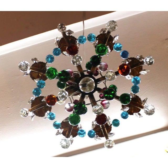1950s Italian Mid Century Modern Murano Glass Fruit Chandelier For Sale - Image 10 of 13