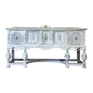 1930s Antique Jacobean Style Buffet For Sale