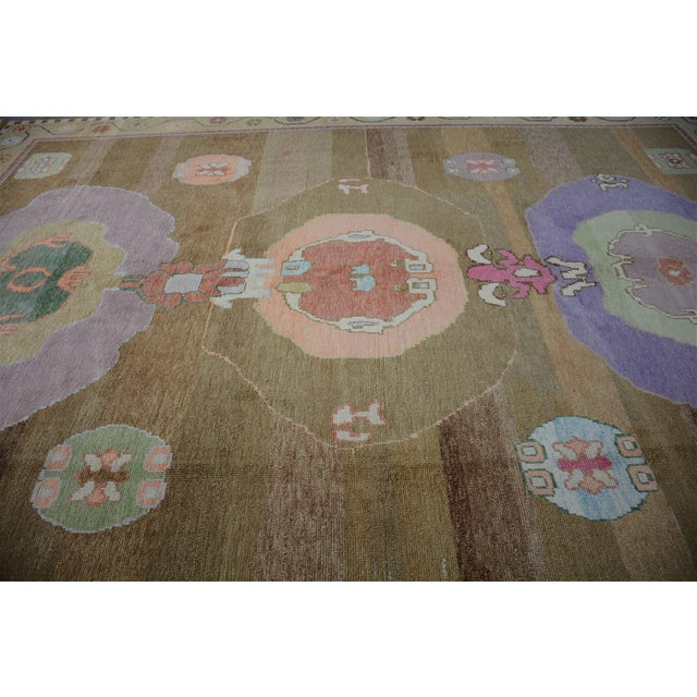 Oversized Hand Knotted Turkish Contemporary Wool Rug For Sale In Raleigh - Image 6 of 9