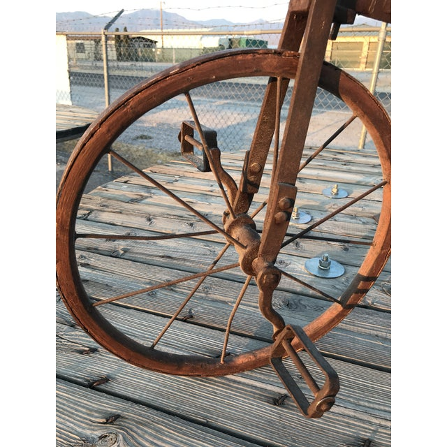 Early 1900s Antique Industrial Cast Iron Tricycle For Sale In Las Vegas - Image 6 of 13