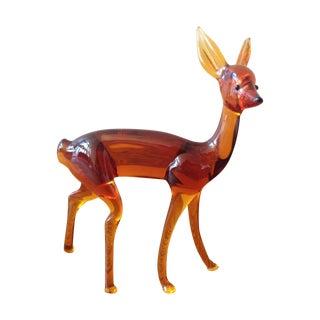 Art Glass Deer Figurine