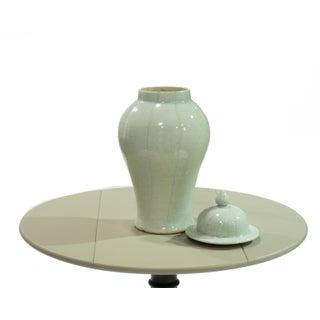 Large Celadon Crackle Lidded Temple Jar Preview