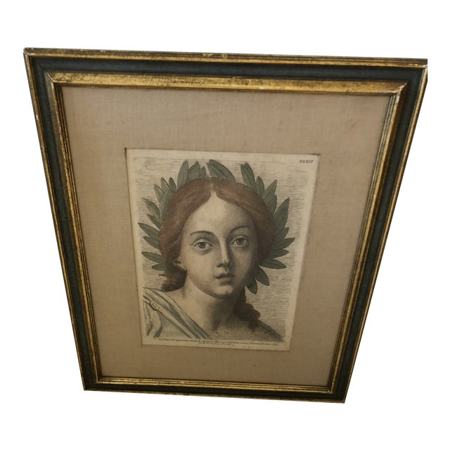 18th Century Italian Hand Colored Engraving For Sale