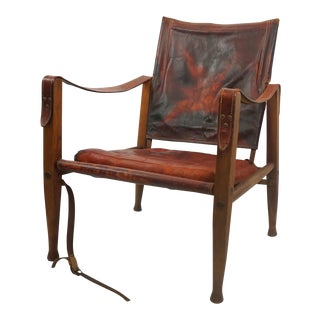 Antique Leather Safari Chair