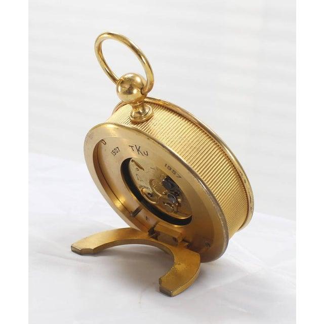 Bronze Tiffany Vintage Bronze Travel Alarm Clock For Sale - Image 7 of 7