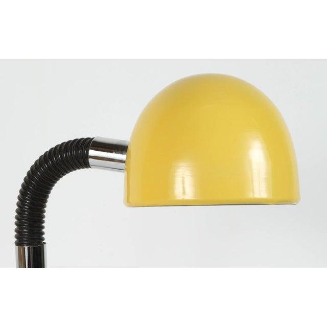 Mid-Century Modern Modernist Enameled Yellow Desk Lamp For Sale - Image 3 of 9