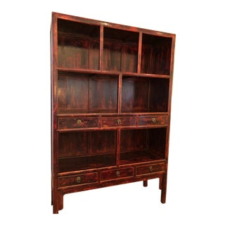 ABC Home Asian Distressed Lacquer Cabinet