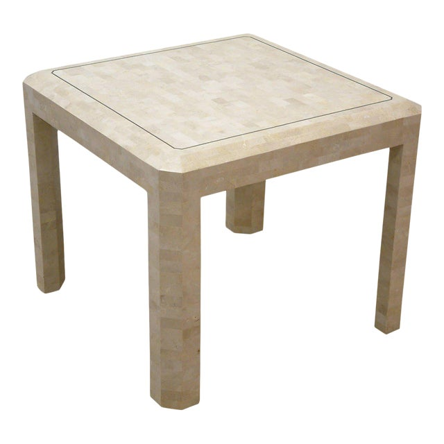 Maitland Smith Brass and Tessellated Stone Table For Sale