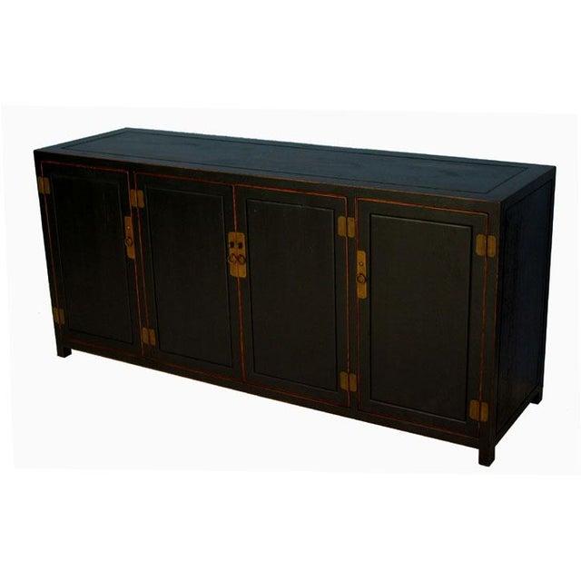 Asian Antique Black Sideboard For Sale - Image 3 of 6