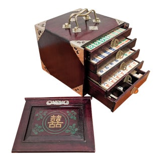 Early 20th Century Complete Mah Jong Set For Sale