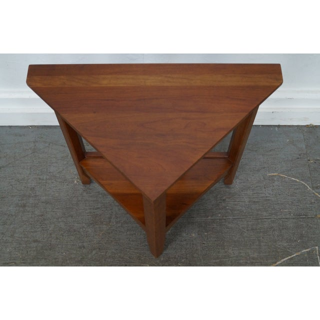 Ethan allen new impressions solid cherry triangle corner table ethan allen new impressions solid cherry triangle corner table image 5 of 10 watchthetrailerfo