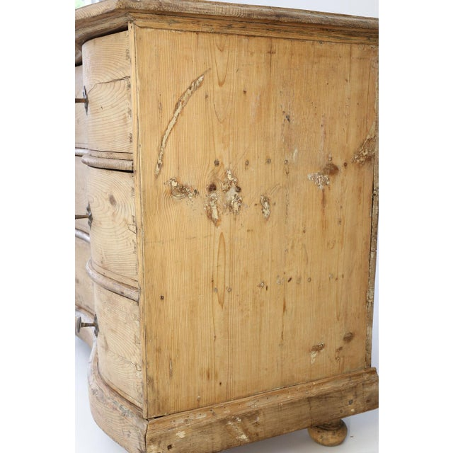 Brown Italian Serpentine-Front Pine Commode For Sale - Image 8 of 13