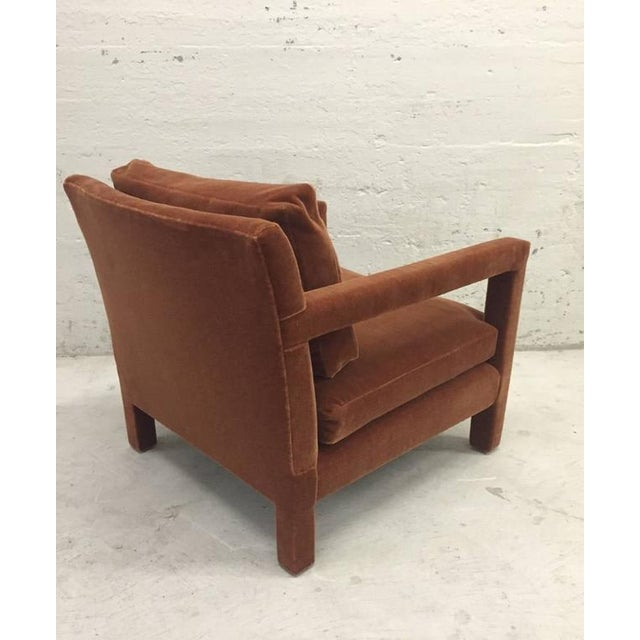 Pair of Milo Baughman Lounge Chairs in Mohair - Image 3 of 5