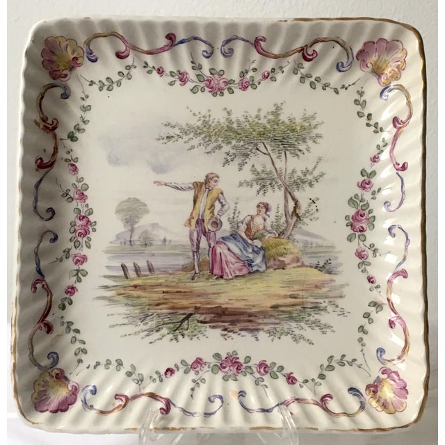 French Faience Hand-Painted Serving Dish For Sale In New York - Image 6 of 6