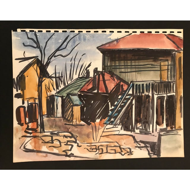 From a group of works by an unknown Kansas City artist, c. 1950-1952. This would look great on your new gallery wall!