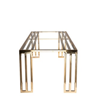 Art Deco Lorenzo Gold DIning Table for 8-Showroom Sample For Sale