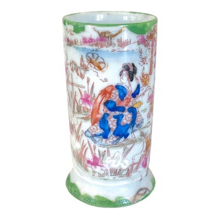Early 20th Century Vintage Chinese Famille Rose Brush Pot For Sale
