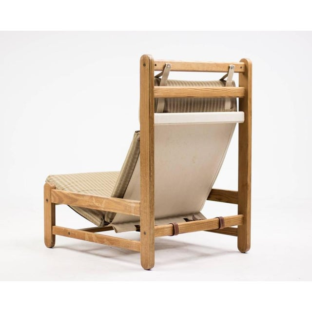 Tan Scandinavian Architectural Lounge Chair For Sale - Image 8 of 8