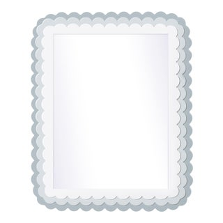 Fleur Home x Chairish Carnival Krewe Rectangle Mirror in Parma Gray, 30x40 For Sale