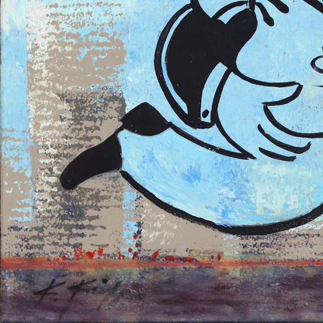 """""""Take the Money and Run Fast"""" Original Artwork by Kathleen Keifer For Sale - Image 4 of 9"""