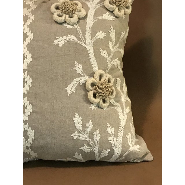 """Swedish Brunschwig & Fils Pillows in """"Sea Vine"""" Wheat - a Pair For Sale In Raleigh - Image 6 of 10"""