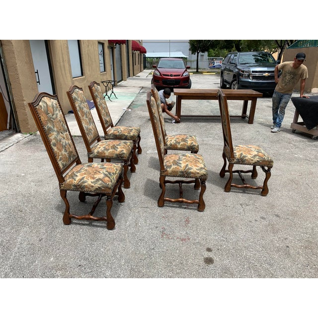 Wood 1900s French Country Louis XIII Style Os De Mouton Dining Chairs - Set of 6 For Sale - Image 7 of 10