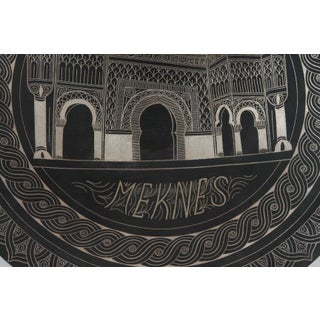 Moroccan Hanging Black Metal Tray From Meknes Preview