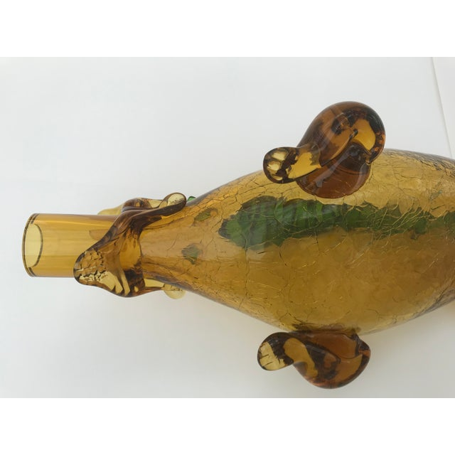 Italian Mid Century Blown Glass Alligator Wine Bottle For Sale - Image 11 of 13