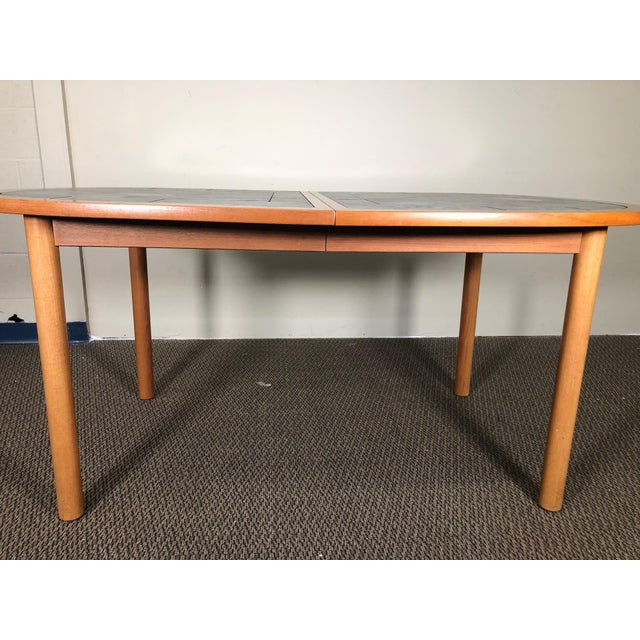 Danish Teak and Tile Extending Dining Table Seats 10 For Sale - Image 9 of 13