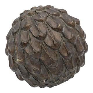 Decorative Wooden Artichoke Object For Sale