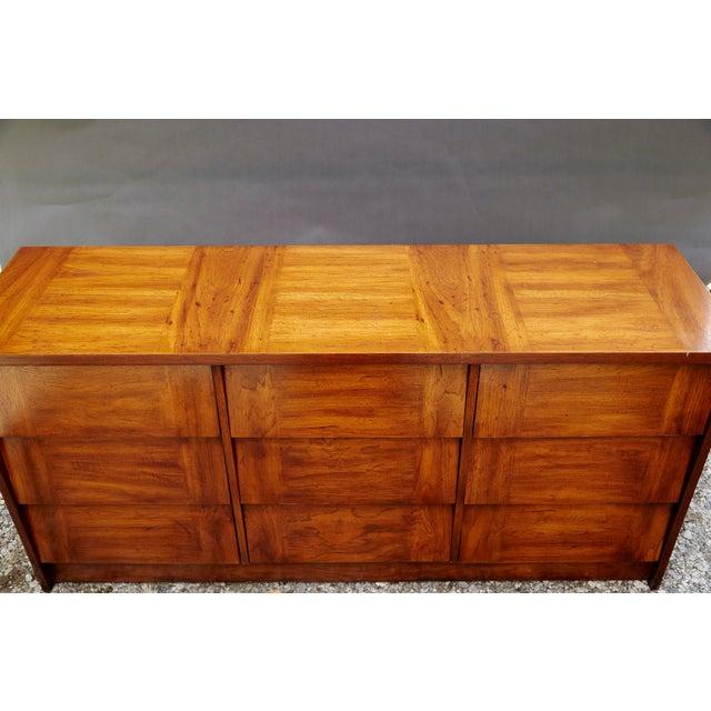 Modern Nine Drawer Low Boy Dresser For Sale - Image 4 of 10
