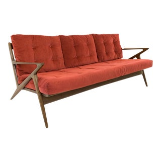 Vintage Mid-Century Kofod Larsen for Selig Z Sofa For Sale