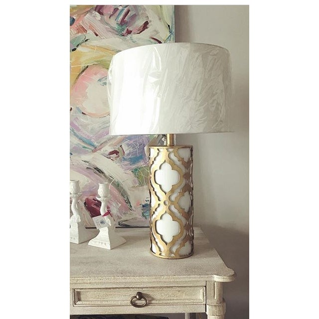 Mid-Century Modern Contemporary Arabella Gold Table Lamp For Sale - Image 3 of 10