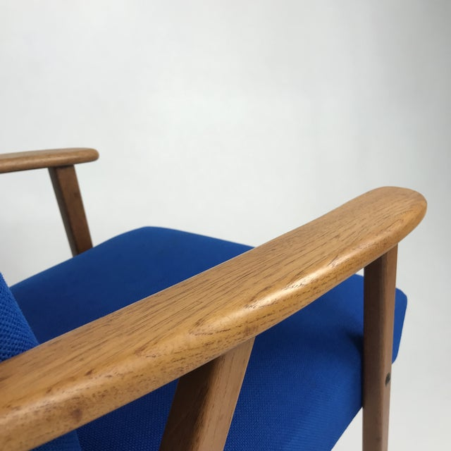 Royal Blue Swedish Modern Lounge Chair For Sale - Image 10 of 13