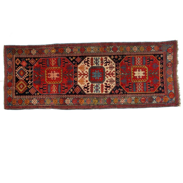 """1900s Persian Leon Banilivi Antique Karabagh - 3'8"""" X 9'6"""" For Sale In New York - Image 6 of 6"""