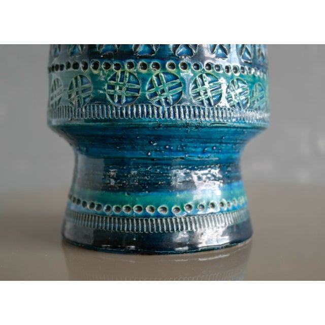Blue Aldo Londi for Bitossi Remini Blu Ceramic Vase For Sale - Image 8 of 8