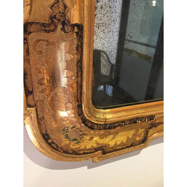 Wood Pair of Venetian Mirrors For Sale - Image 7 of 10