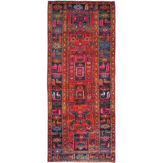 "Vintage Persian Hamadan Rug – Size: 4"" X 9' 7"" For Sale"