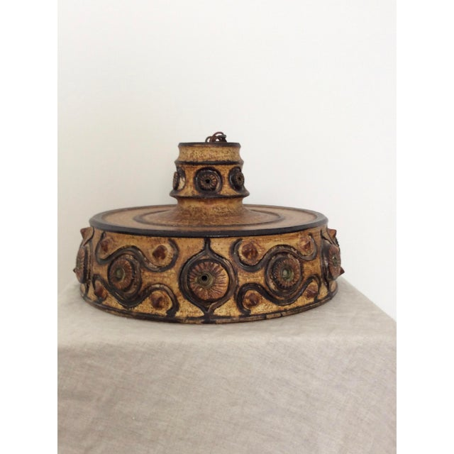 Danish Modern Hanging Pottery Pendant Light For Sale - Image 5 of 5