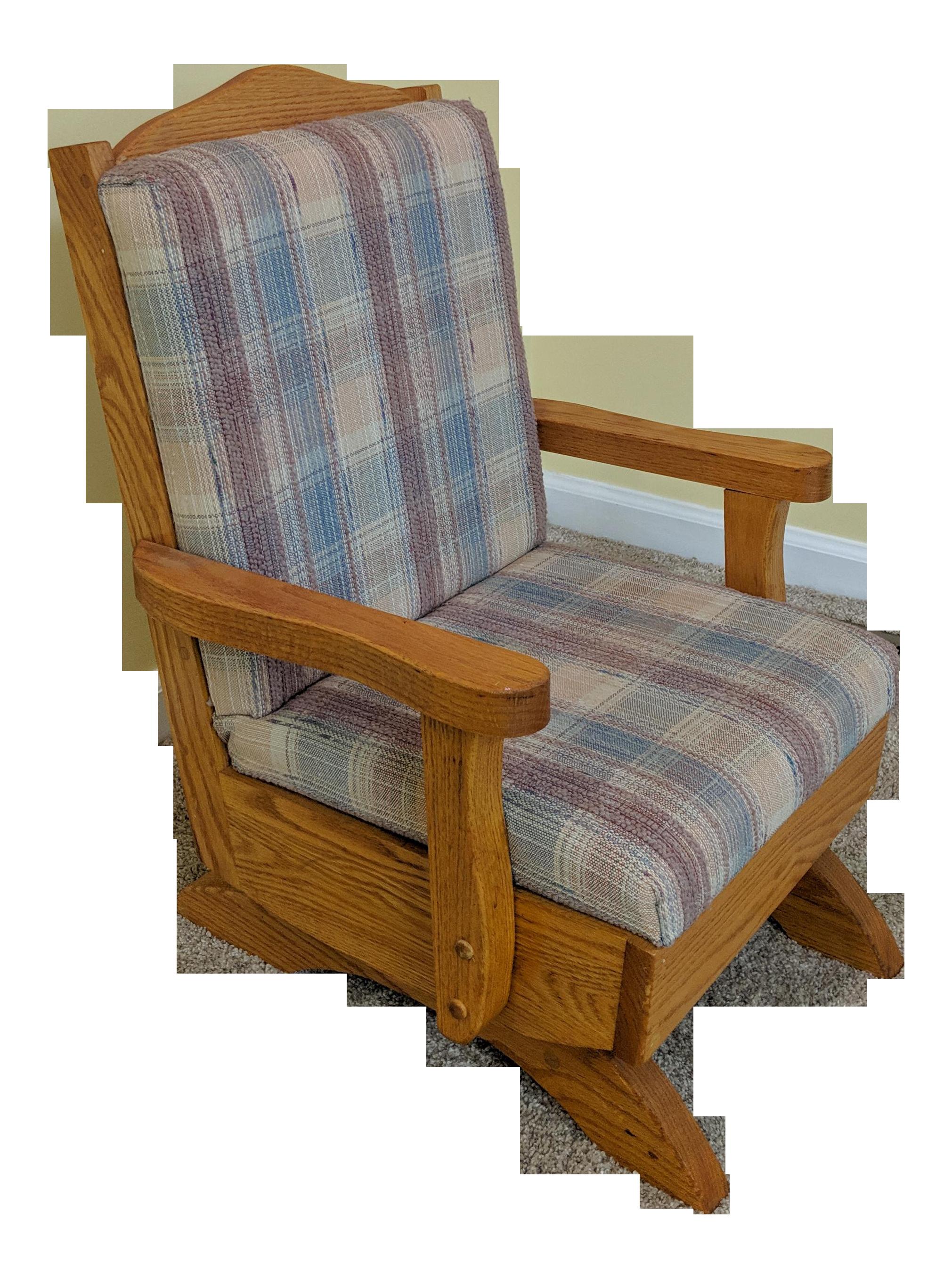 1980s Vintage Childrenu0027s Cushioned Wood Rocking Chair For Sale  sc 1 st  Chairish & Vintage u0026 Used Rocking Chairs for Sale | Chairish