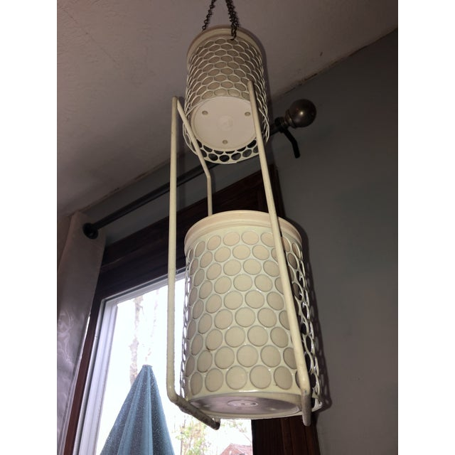 Americana Mid 20th Century Hanging Plant Basket For Sale - Image 3 of 8