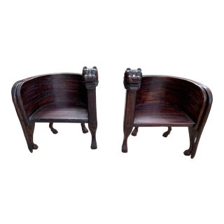 1970s Vintage Leopard Accent Chairs-a Pair For Sale
