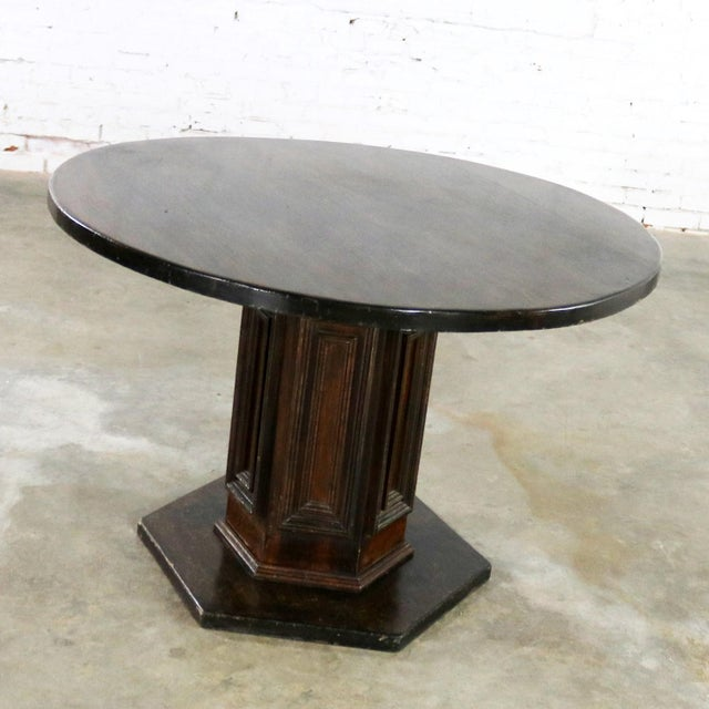 Spanish Colonial Revival Style Round Dining Table With Single Pedestal Style of Artes De Mexico Three Available For Sale - Image 6 of 13