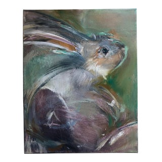 Animal Portrait Abstract Oil Painting For Sale