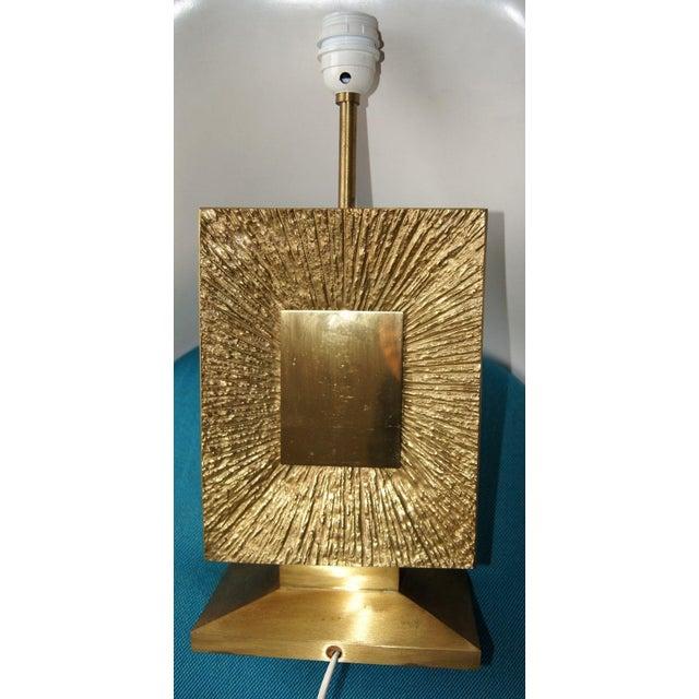 Spectacular! Authentic Maison Bagues Rare Dore Bronze Sunburst Heavy Table Lamp, c.1970. Single lamp for that very special...